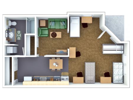 4 Bed Loft Style A