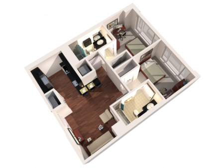 2 Bed 2 Bath Furnished