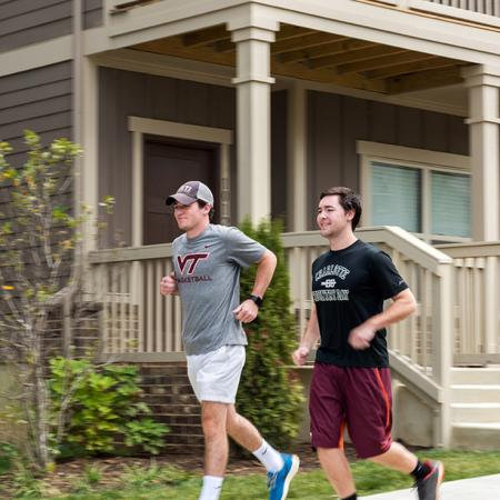 Residents Running using Jogging Trails