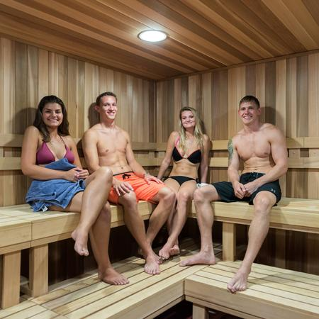 Residents in the Sauna