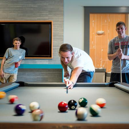 Residents Playing Billiards
