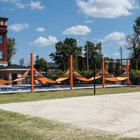 Resident Volleyball Court