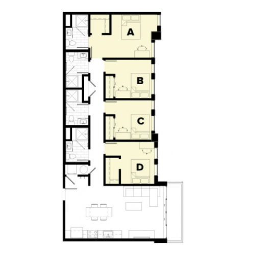4 Bedroom Floor Plan
