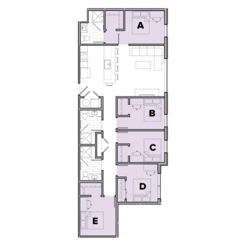 5 Bedroom Floor Plan