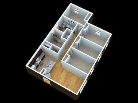 4 bedroom 2 bathroom unit