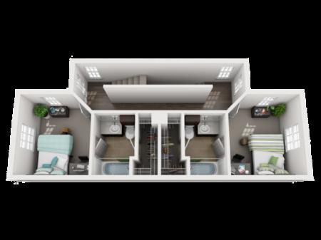 4 Bedroom 4.5 Bathroom Townhome 2nd Floor