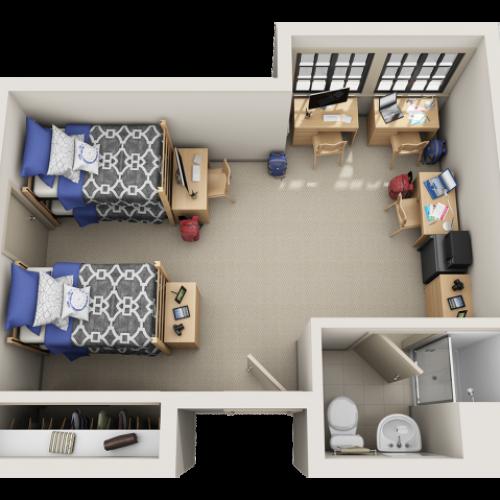 S Bedroom Floor Plan