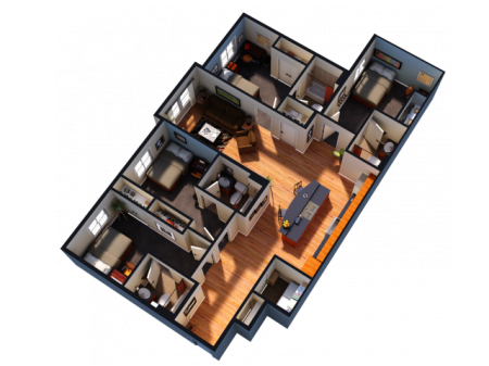 4 Bedroom 4 Bathroom Interior Unit