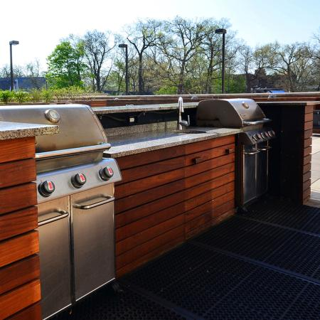 Outdoor Kitchen with BBQ Grills