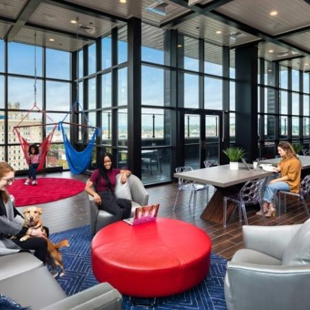 Residents Utilizing Business Center