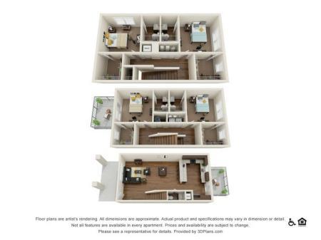 Lumpkin 4x4.5 | 4 bedrooms 5 bathrooms | 1,984 square feet