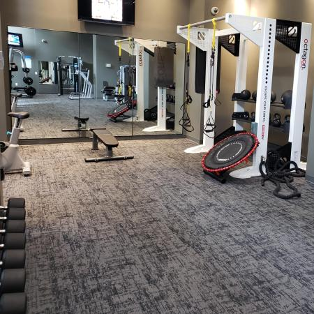 fitness center with free weights and more