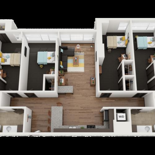 4 Bedroom 2 Bathroom F