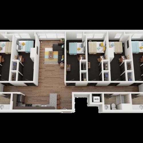 6 Bedroom 3 Bathroom