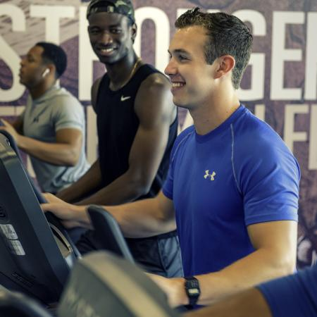 Residents Working Out at Fitness Center