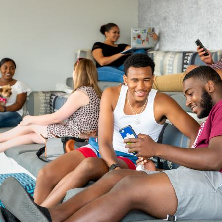 Residents Relaxing in Club Room