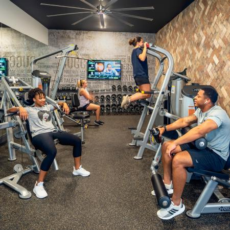Residents Exercising at Fitness Center