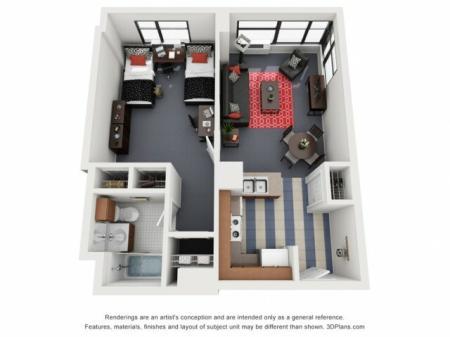 AUR | 1 bed 1 bath | from 325 square feet