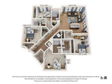 4 Bedroom 4 Bathroom D