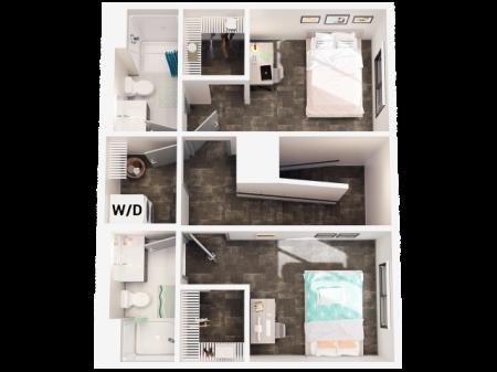 3 Bedroom Townhome C4 Second Floor