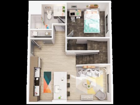 3 Bedroom Townhome C2 First Floor