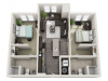 B1 | 2 bed 2 bath | from 820 square feet