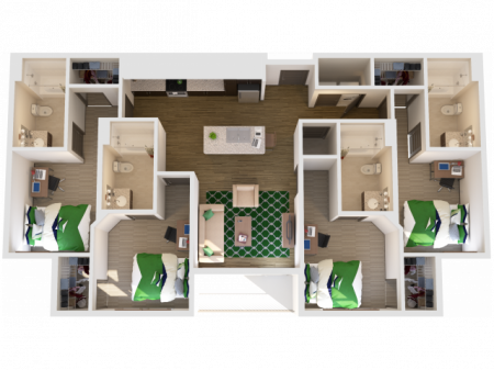 4x4   4 bed 4 bath   from 1481 square feet
