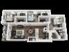 3d floor plan, 3 bed3 bath unit at Cavalier Crossing