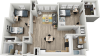 B1E | 2 bed 2 bath | from 1058 square feet