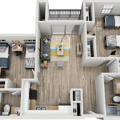 B1I | 2 bed 2 bath | from 1023 square feet