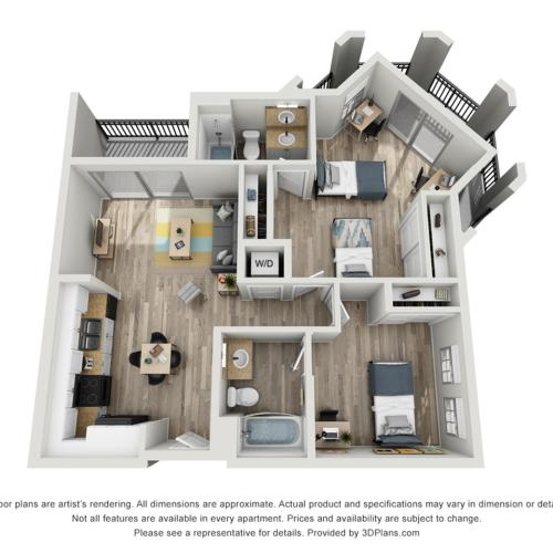 B1J | 2 bed 2 bath | from 1113 square feet