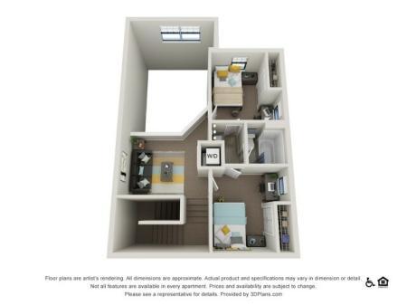 2nd Floor of 4 Bedroom / 2 Bathroom Loft Renovated