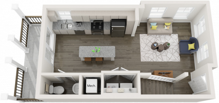 TH-B5   2 bed 3 bath   from 990 square feet