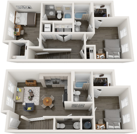 TH-C3   3 bed 4 bath   from 1270 square feet