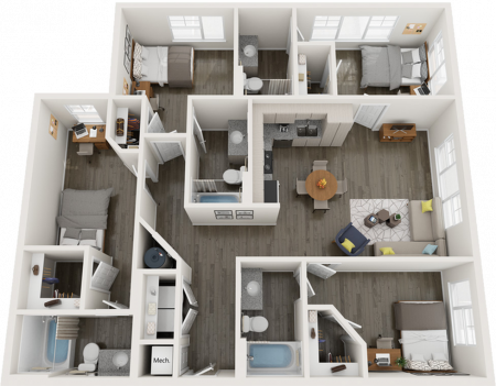 D1   4 bed 4 bath   from 1431 square feet
