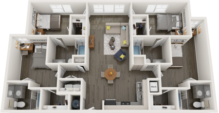 D2   4 bed 4 bath   from 1449 square feet