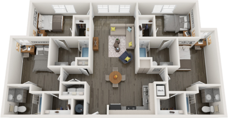 D2.3   4 bed 4 bath   from 1457 square feet