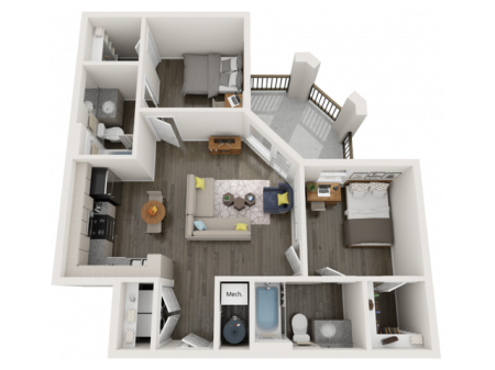 B3   2 bed 2 bath   from 818 square feet