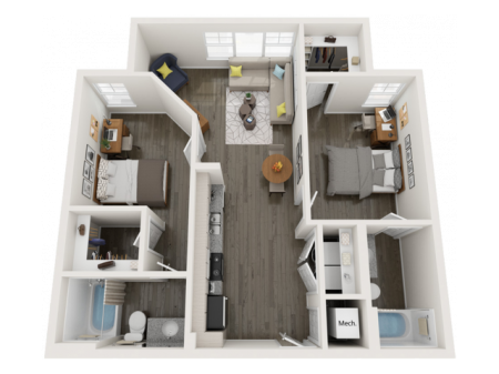 B4   2 bed 2 bath   from 882 square feet