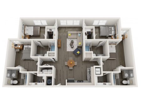 D2.2   4 bed 4 bath   from 1468 square feet