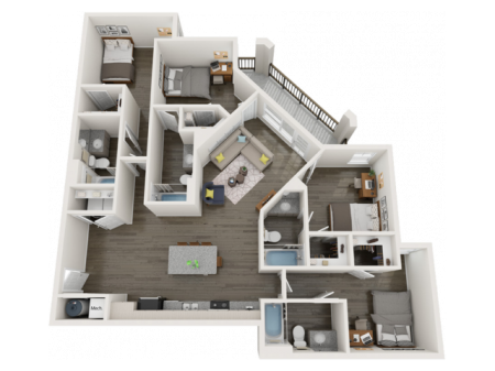 D3   4 bed 4 bath   from 1565 square feet