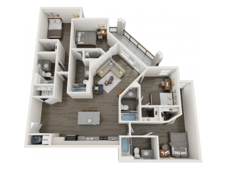 D3.2   4 bed 4 bath   from 1598 square feet