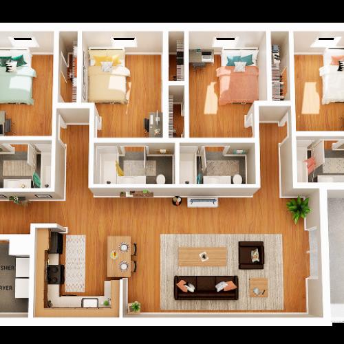 4 Bedroom 4 Bathroom D5