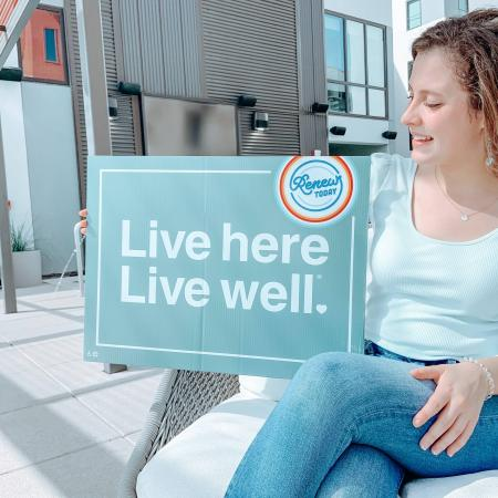 live here live well sign