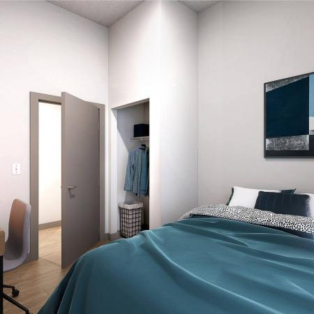 private bedroom with closet