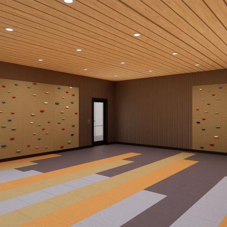 yoga and climbing room