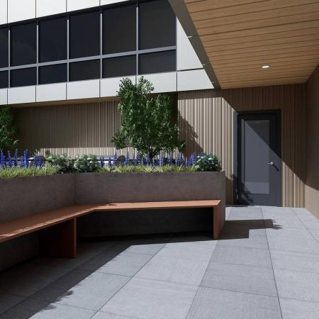 lower deck outdoor area