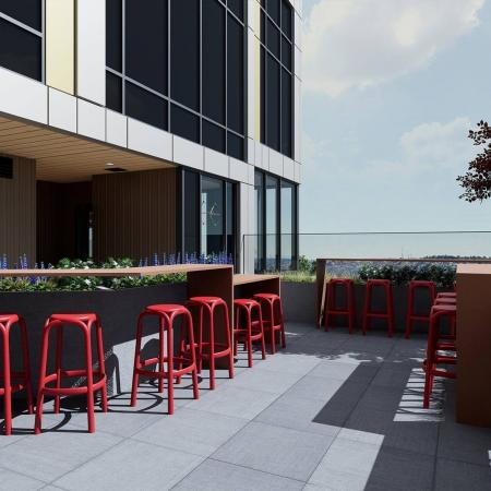 sky lounge deck with outdoor tv