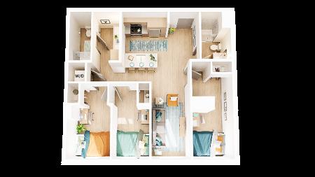 3 Bedroom 2 Bathroom C5
