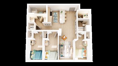 3 Bedroom 2 Bathroom C7